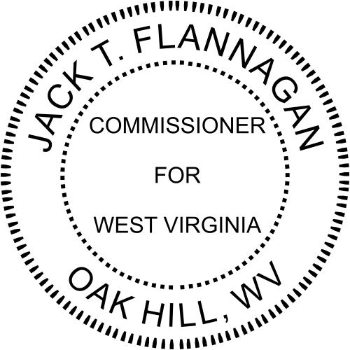 West Virginia Commissioner Stamp Seal