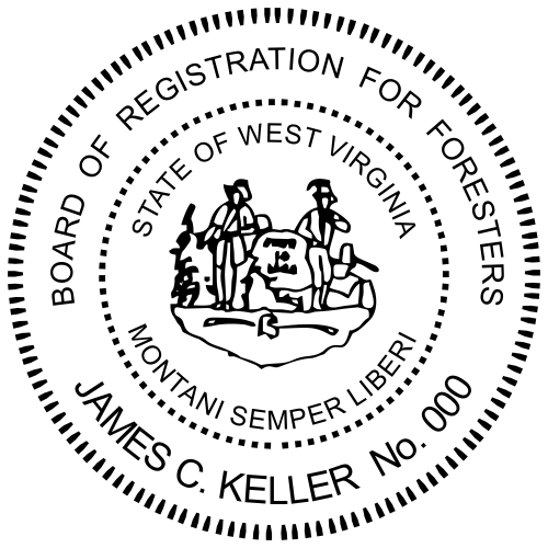 West Virginia Forester Stamp Seal
