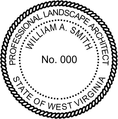 West Virginia Landscape Architect Stamp Seal