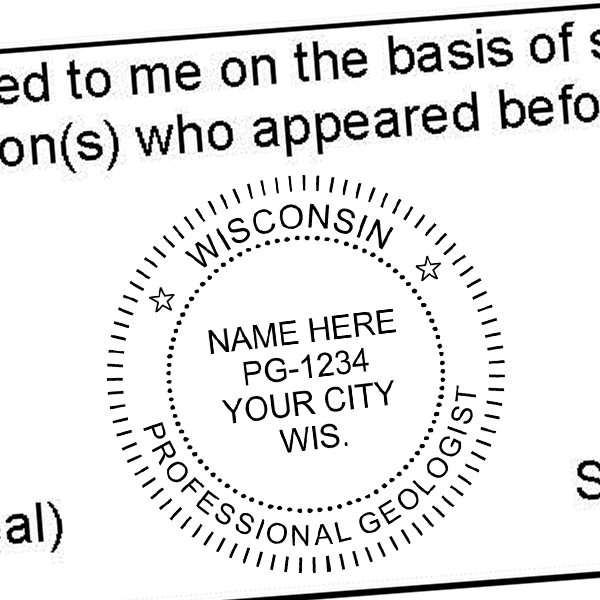 State of Wisconsin Geologist Seal Imprint