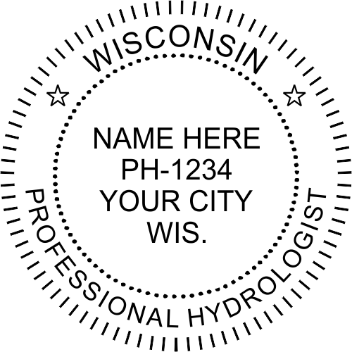 Wisconsin Hydrologist Stamp Seal