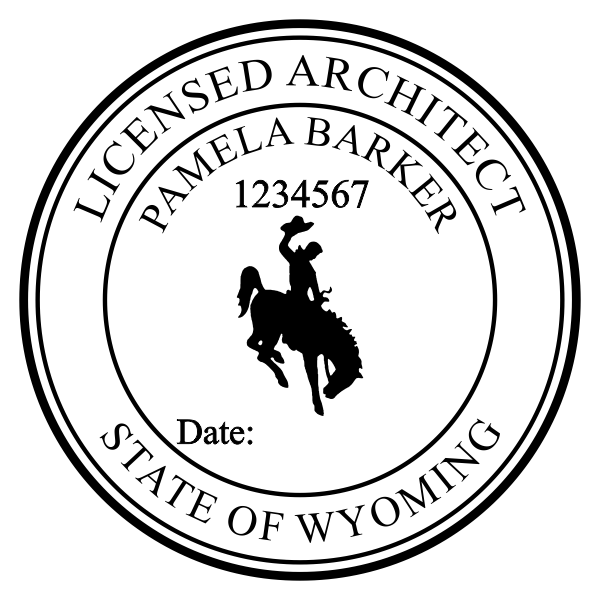 State of Wyoming Architect Seal Imprint