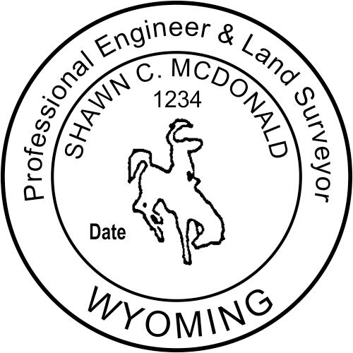 Wyoming Dual Engineer & Land Surveyor Stamp Seal