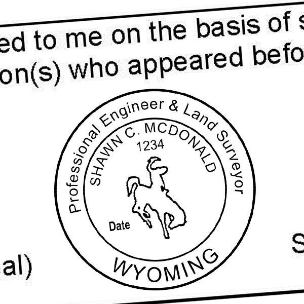 State of Wyoming Engineer Surveyor Seal Imprint