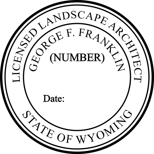 Wyoming Landscape Architect Stamp Seal