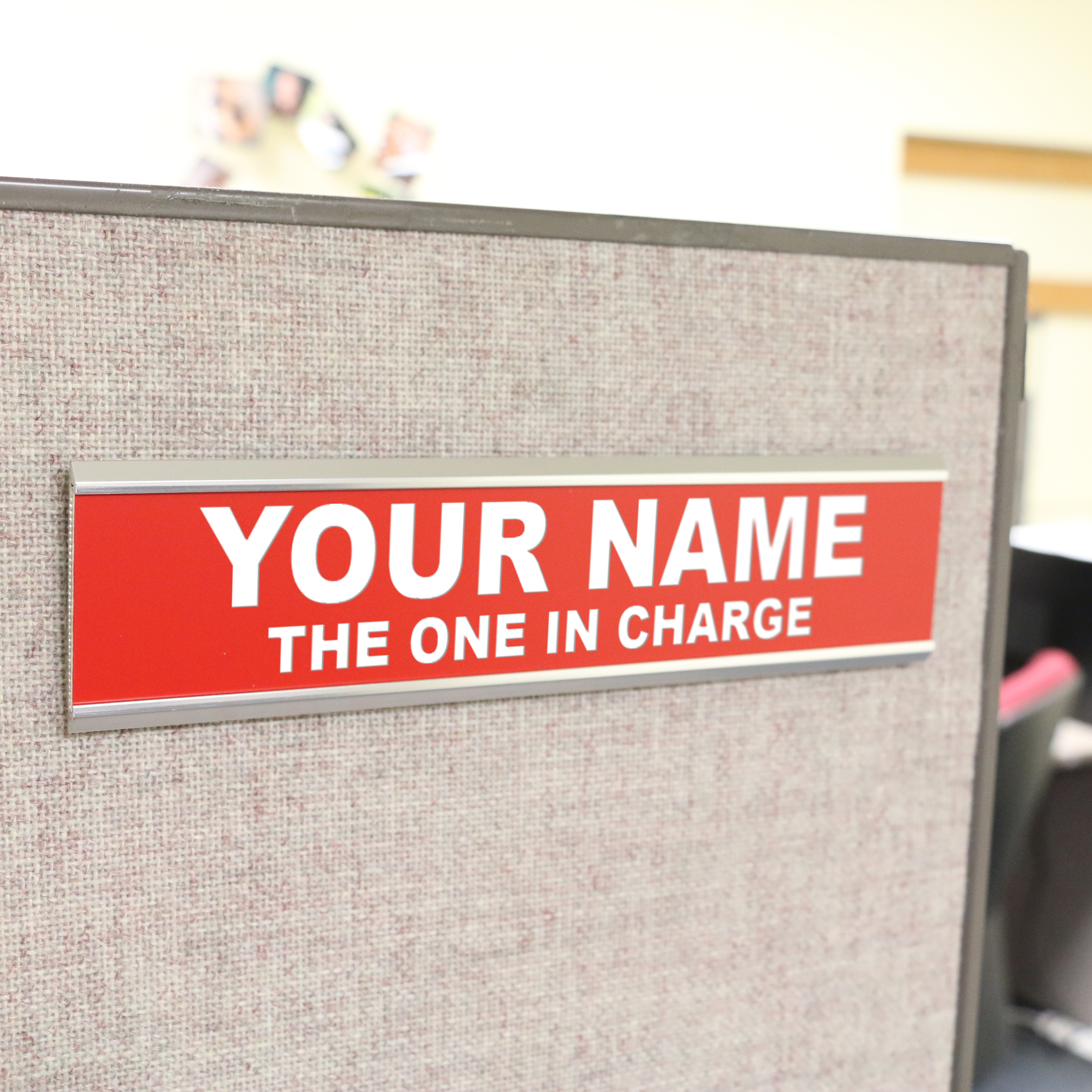 Engraved Cubicle or Wall Plate