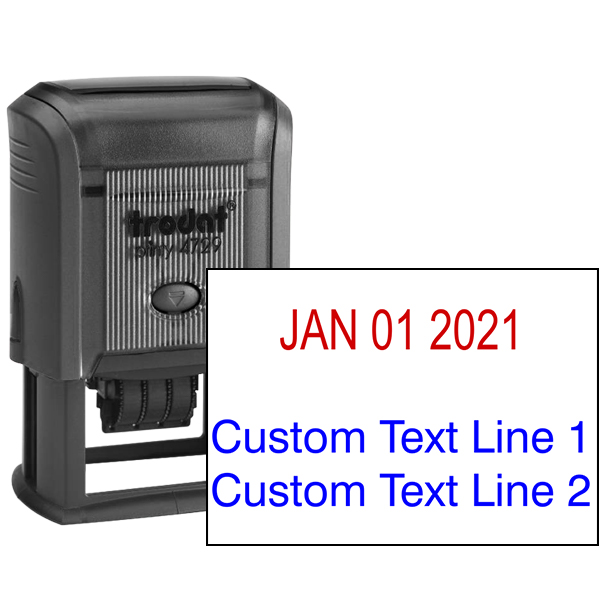 Self-Inking Date Stamp with Custom Text