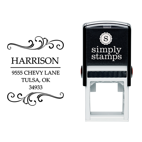 Harrison Square Address Stamp Body and Design