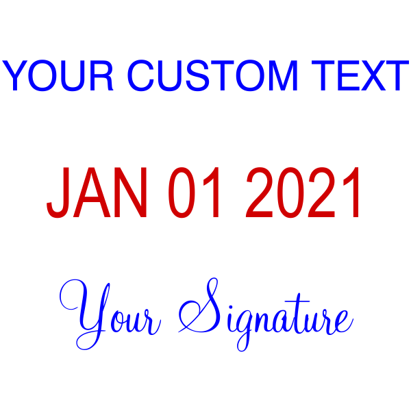 Custom Text Your Signature Bottom Dater Stamp