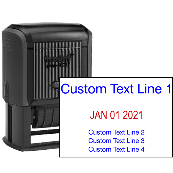 1 Top Line 3 Bottom Date Stamp
