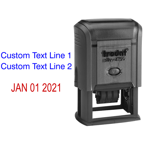 2 Top Lines Date Stamp Body and Design