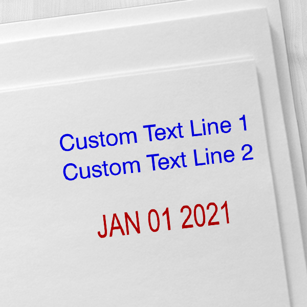 2 Top Lines Date Stamp Imprint Examples on Envelopes