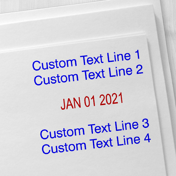 2 Top Lines 2 Bottom Date Stamp Imprint Examples on Envelopes