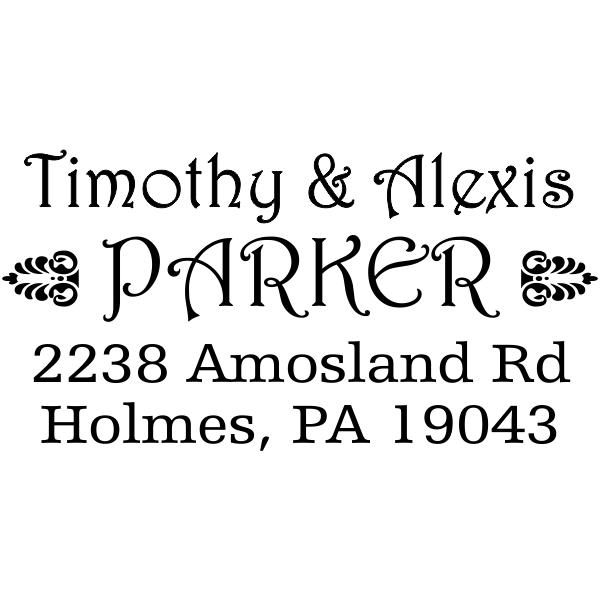Parker Deco Address Stamp