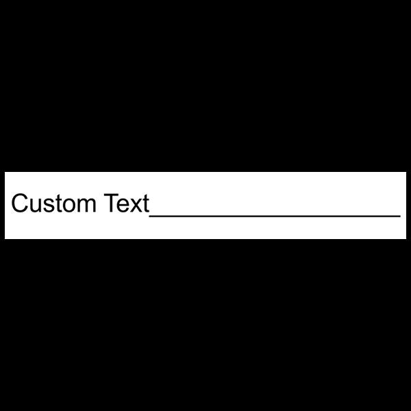 1 Line Form Custom Rubber Stamp Imprint