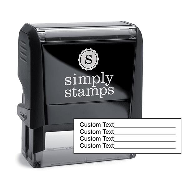 4 Line Form Custom Rubber Stamp