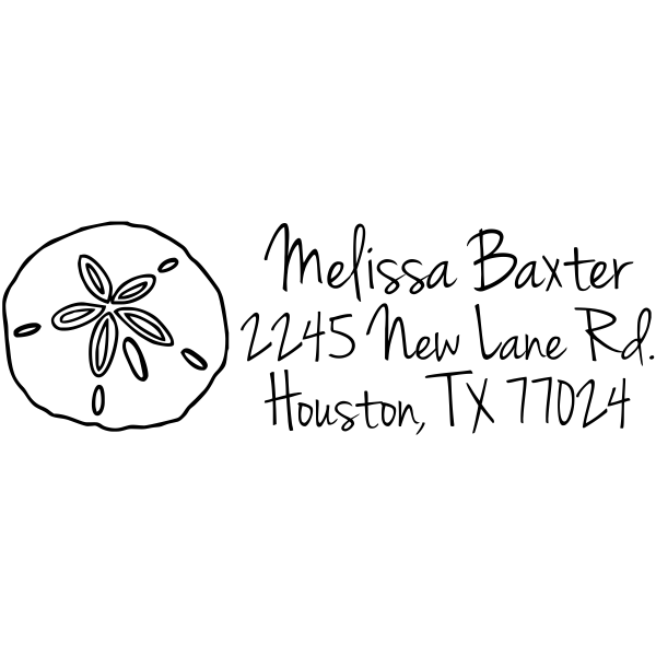 Baxter Shell Address Stamp