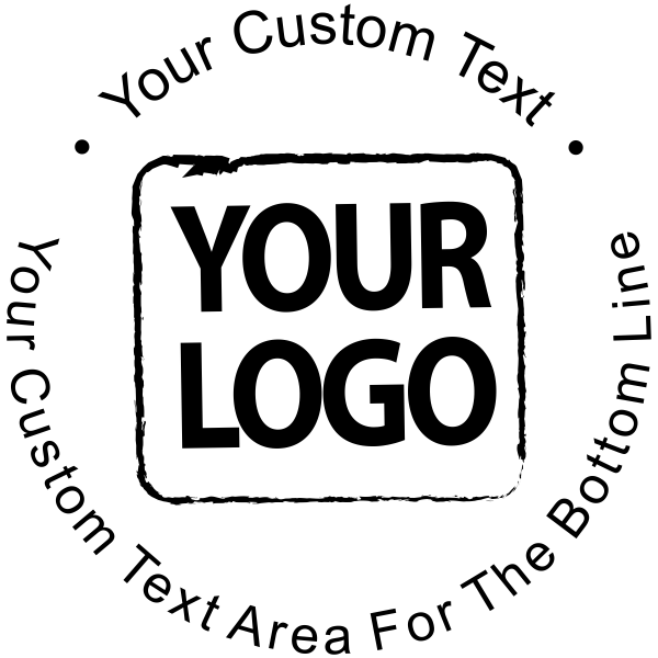 Custom Rubber Stamp - Simple Round with Logo