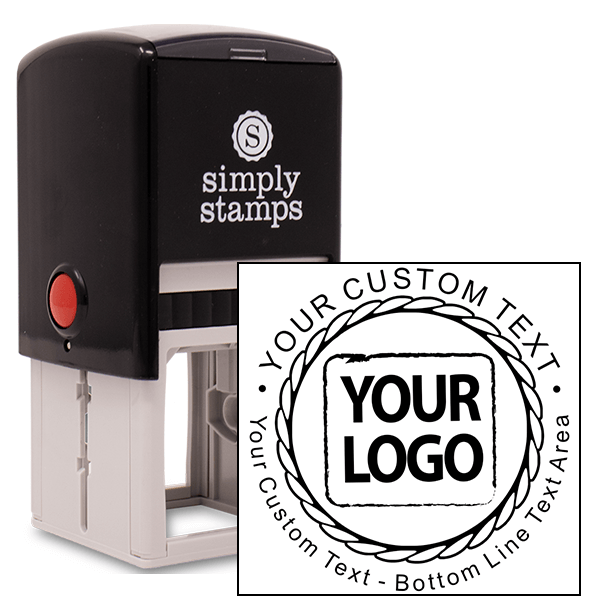 Custom Round Rope Logo Stamp