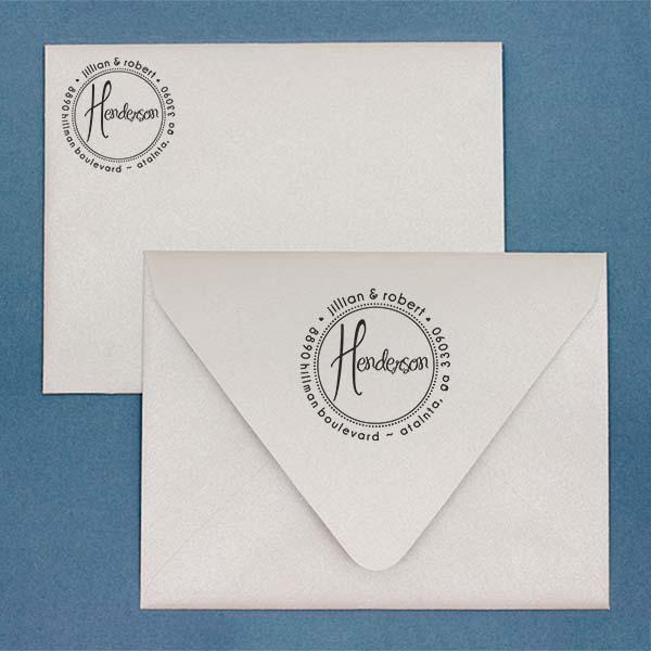 Henderson Round Address Stamp Imprint Example