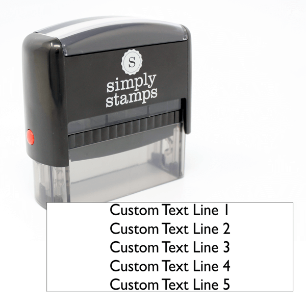 5 Line Custom Self Inking Stamp
