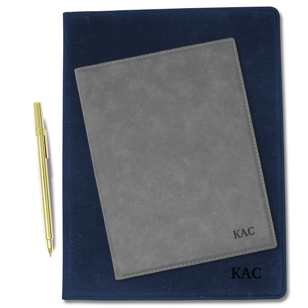 Custom Initials Leatherette Folio