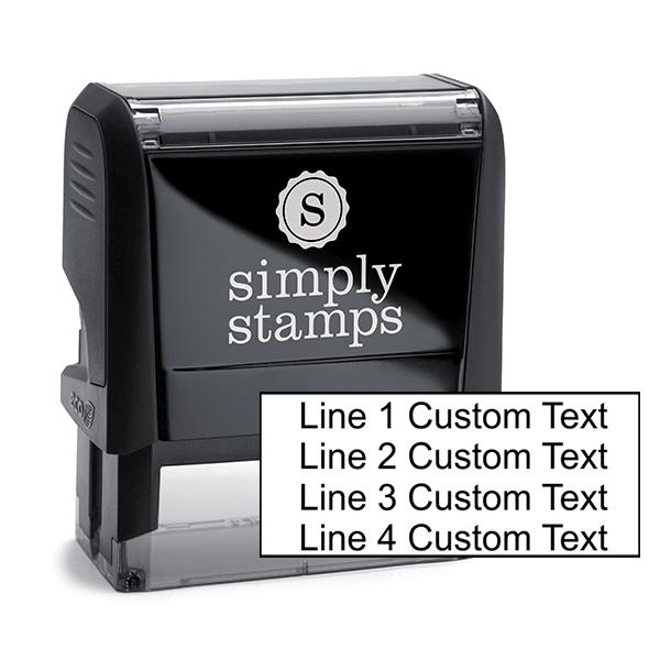 4 Line Custom Rubber Stamp