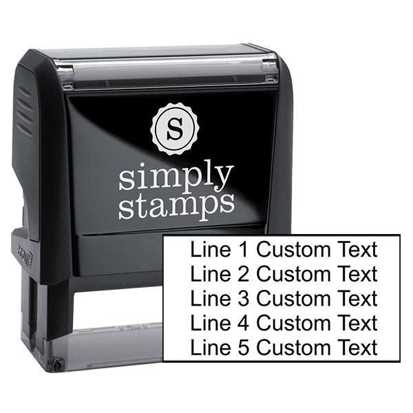 5 Line Custom Rubber Stamp