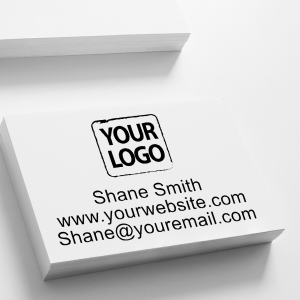 Self-Inking Custom Logo Stamp with Text Imprint on Paper
