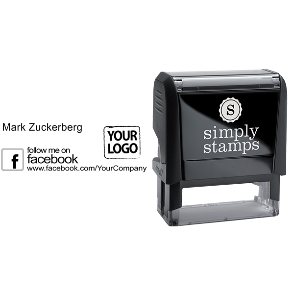 Follow Me on Facebook Logo Stamp - Stamp Body and Design