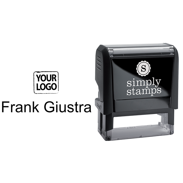 Self-Inking Logo Stamp with Your Name - Stamp Body and Design