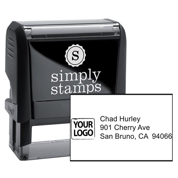 Custom Logo Return Address Stamp