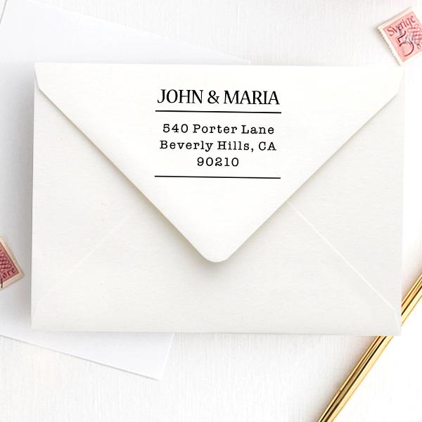 Sleek Type Address Stamp Imprint Example