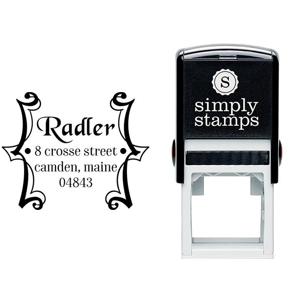 Radler Framed Address Stamp Body and Design