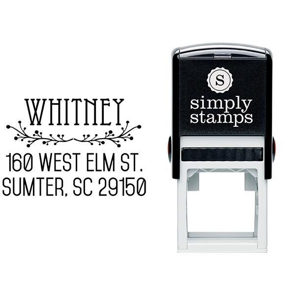 Cherry Tree Address Stamp Body and Design