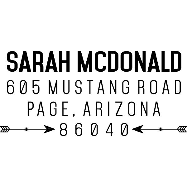Southwestern Tribal Arrow Address Stamp