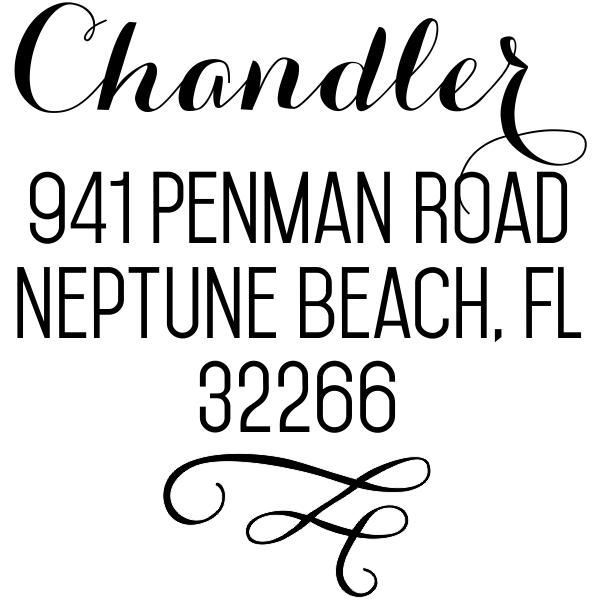 Chandler Swash Address Stamp