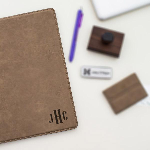 Small Monogram Leatherette Folio
