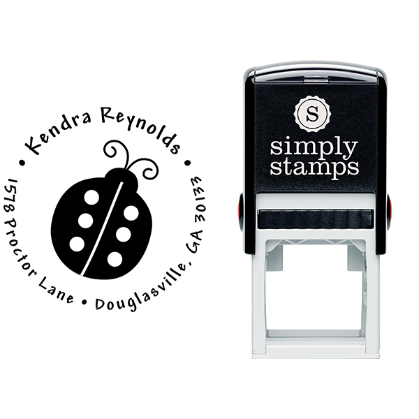 Ladybug Return Address Stamp Body and Design