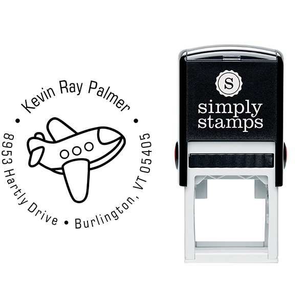Toy Plane Return Address Stamp Body and Design