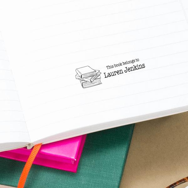 Book Belong to Custom Stamp Imprint Example