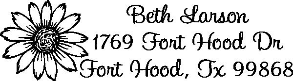 Flower Address Stamp