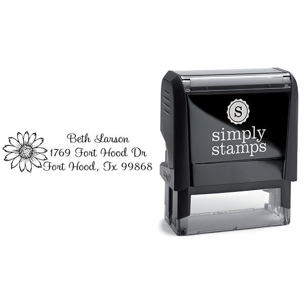 Flower Address Stamp Body and Design