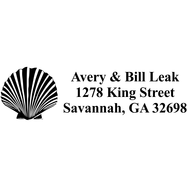 shell rubber address stamp