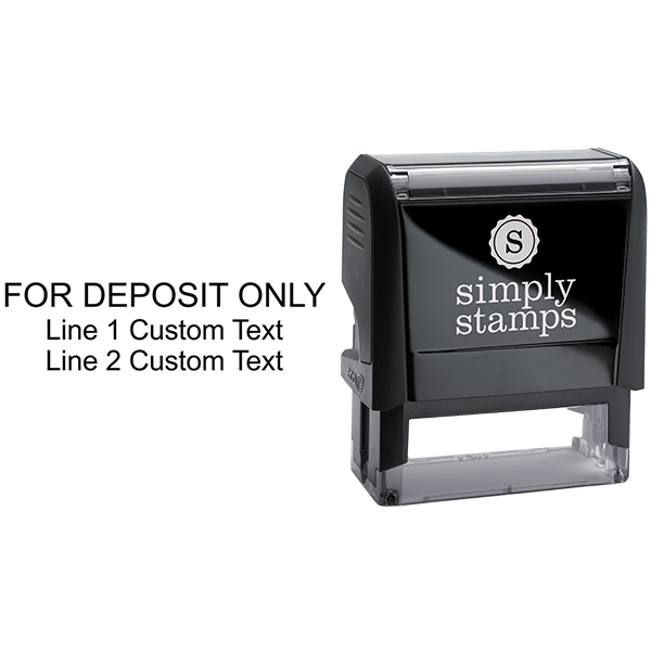 3 Line Deposit Only Stamp Body and Design