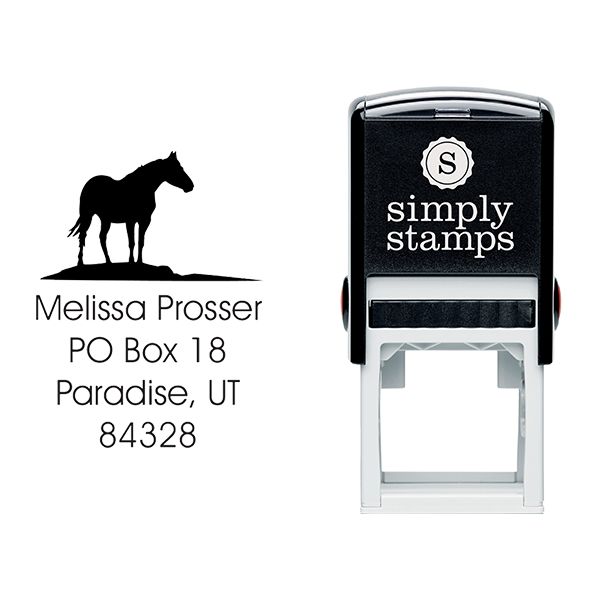 Horse Square Stamp Body and Design