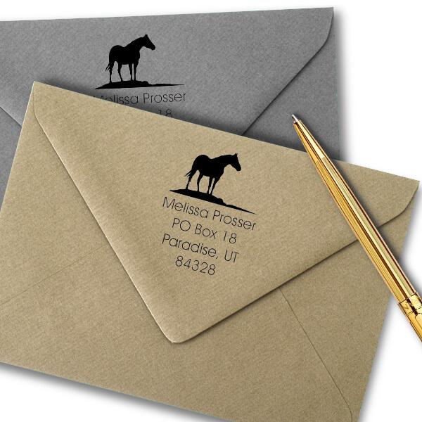 Horse Square Stamp Imprint Example