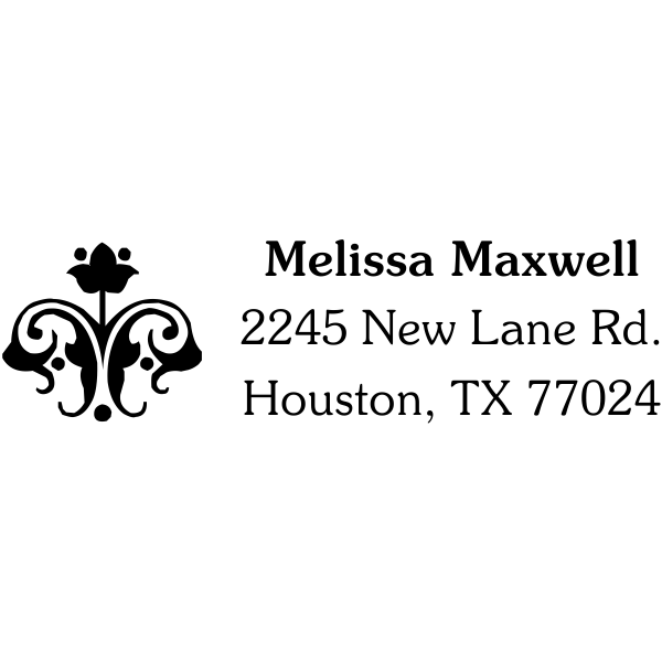 flower design address stamp