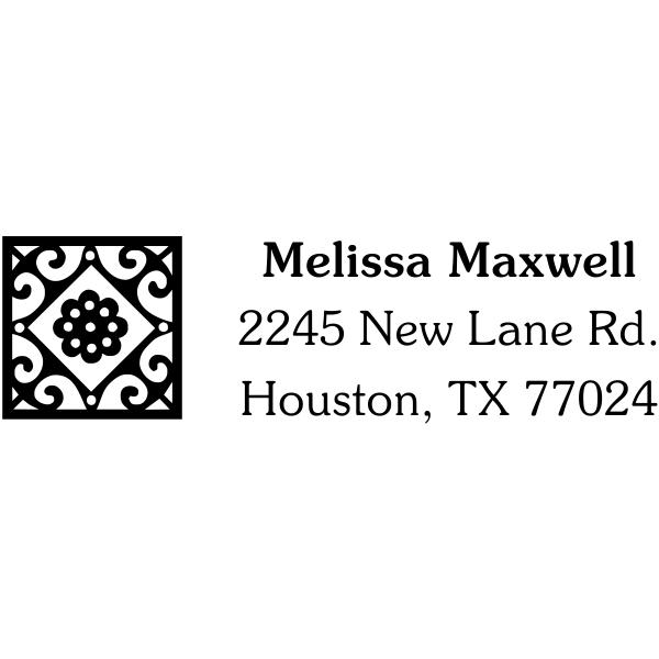 Deco Tile Address Stamp