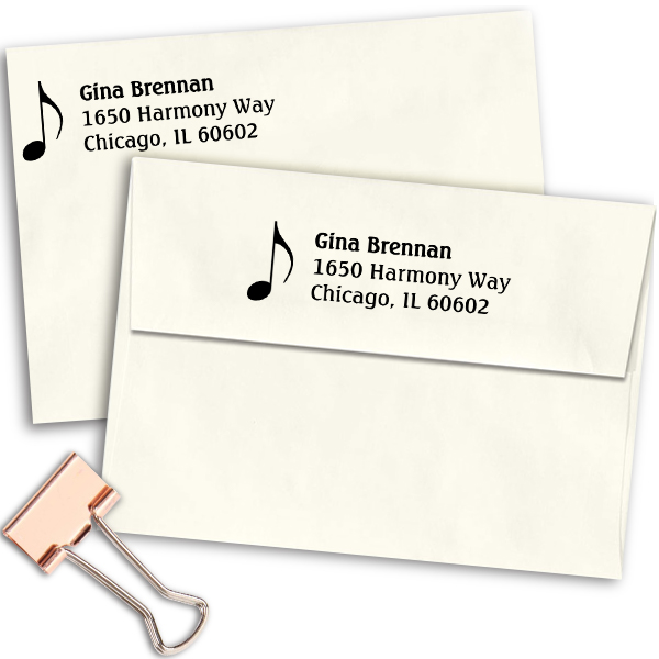 Music Note Address Stamp